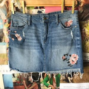 Tinseltown Mini Denim Skirt